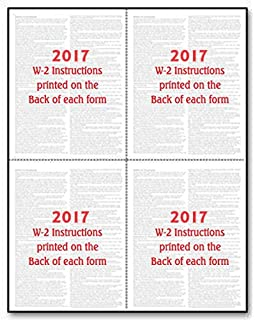Amazon.com : EGP Blank W-2 4 Up Tax form with back instructions ...