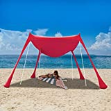 Best Beach Canopies - UBOWAY Beach Sunshade Tent with Sandbag Anchors Review