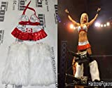 Angelina Love 4x Signed TNA Knockout Ring Worn Canada Gear COA Autograph - PSA/DNA Certified - Autographed Wrestling Miscellaneous Items