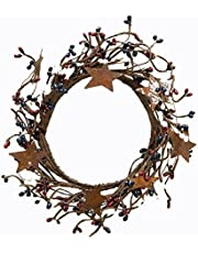 CWI Gifts Country Mix Pip Ring with Rusty Stars, 4 by 8-Inch