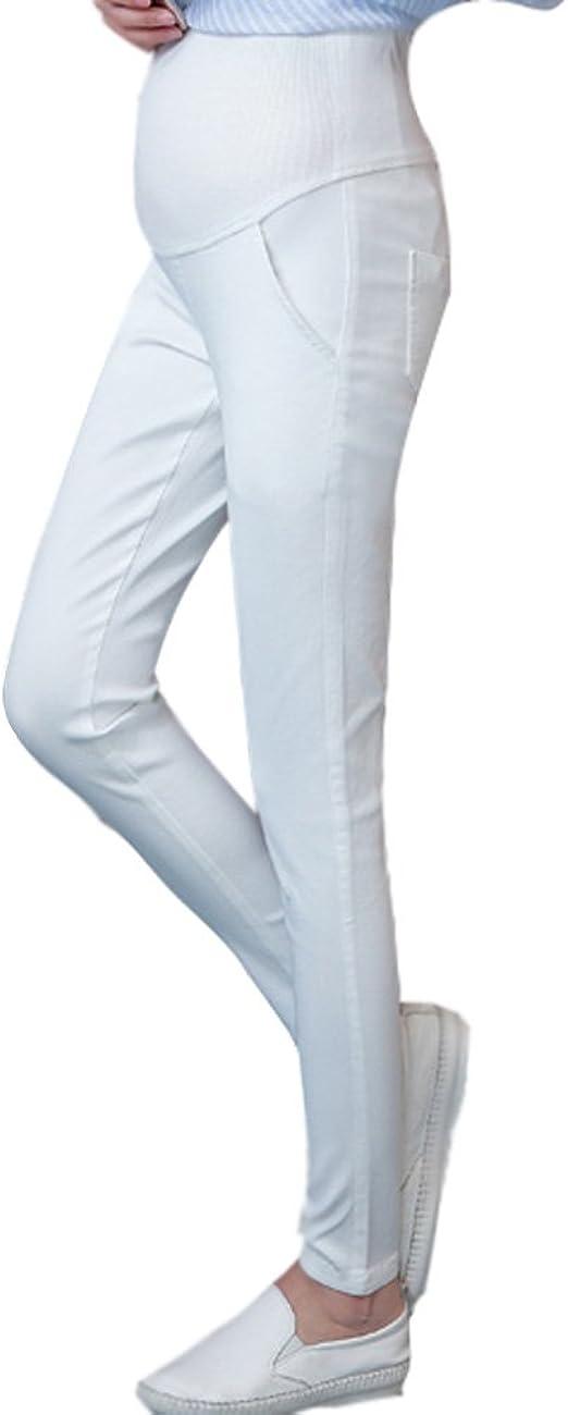ShallGood Femme D/écontract/ée Stretch Pantalon Maternit/é Enceinte Grossesse Longue Leggins Leggings Haute Taille Couvrant Le Ventre Pants