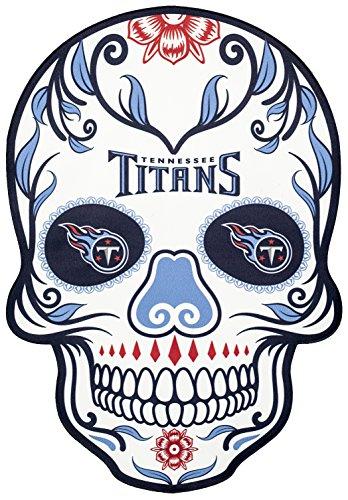 - Applied Icon NFL Tennessee Titans Outdoor Small Dia De Los Muertos Skull Decal