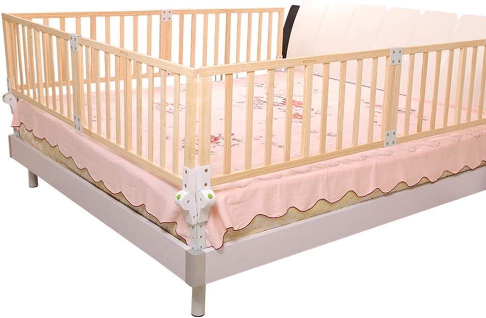 XJJUN-Barandillas para camas Cerca De Beb/é A Prueba De Ca/ídas De Madera Cama De Seguridad para Ni/ños Muy Alto S/ólido Y Duradero Adecuado para Ni/ños Peque/ños 6 Tallas