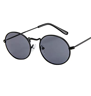 a2011e08682 ... Metal Frame Glasses Fashion Shades Classic Retro Round Circle Eye  Glasses Round Clear Lens Men s Or Women s Aviator Sunglasses  Amazon.co.uk   Clothing