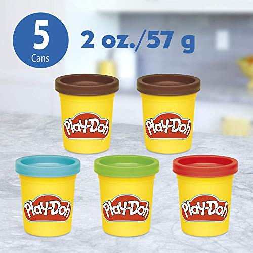 Play-Doh Kitchen Creations Candy Delight Playset for Kids 3 Years and Up with 5 Cans, Non-Toxic