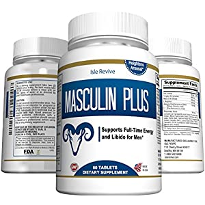 Masculin Plus Natural Testosterone Booster For Men, Non-Stimulating Male Enchantment Pills (60 Tablets, 30 Day Supply) natural male enchantment - 512i04Y0ngL - natural male enchantment