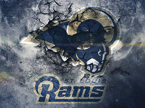 DIY 5D Diamond Painting Kits for Adults 14x20 lnch,St. Louis Rams Full Drill Diamond Painting Crystal Diamond Arts Crafts for Home Wall Decor,NFL Team Logo (Nfl Cross Stitch)