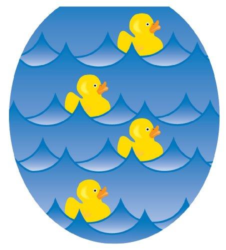 Toilet Tattoos TT-4001-R Rubber Ducky Blue Decorative App...