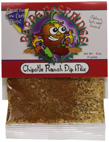 Mix Dip Pepper (Pepper Springs Chipotle Ranch Dip Mix, 0.8 Ounce)