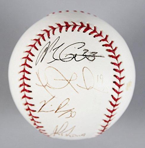 2004 Atlanta Braves Multi Signed Baseball   Coa