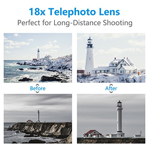 Cell Phone Telephoto Lens, Avanz 2018 Upgraded 18x Zoom Telephoto Lens with Mini Tripod & Universal Clip & Phone Holder, Zoom Lens for iPhone X/8/7/6S/SE, Samsung, iPad, Smartphones by Avanz (Image #4)