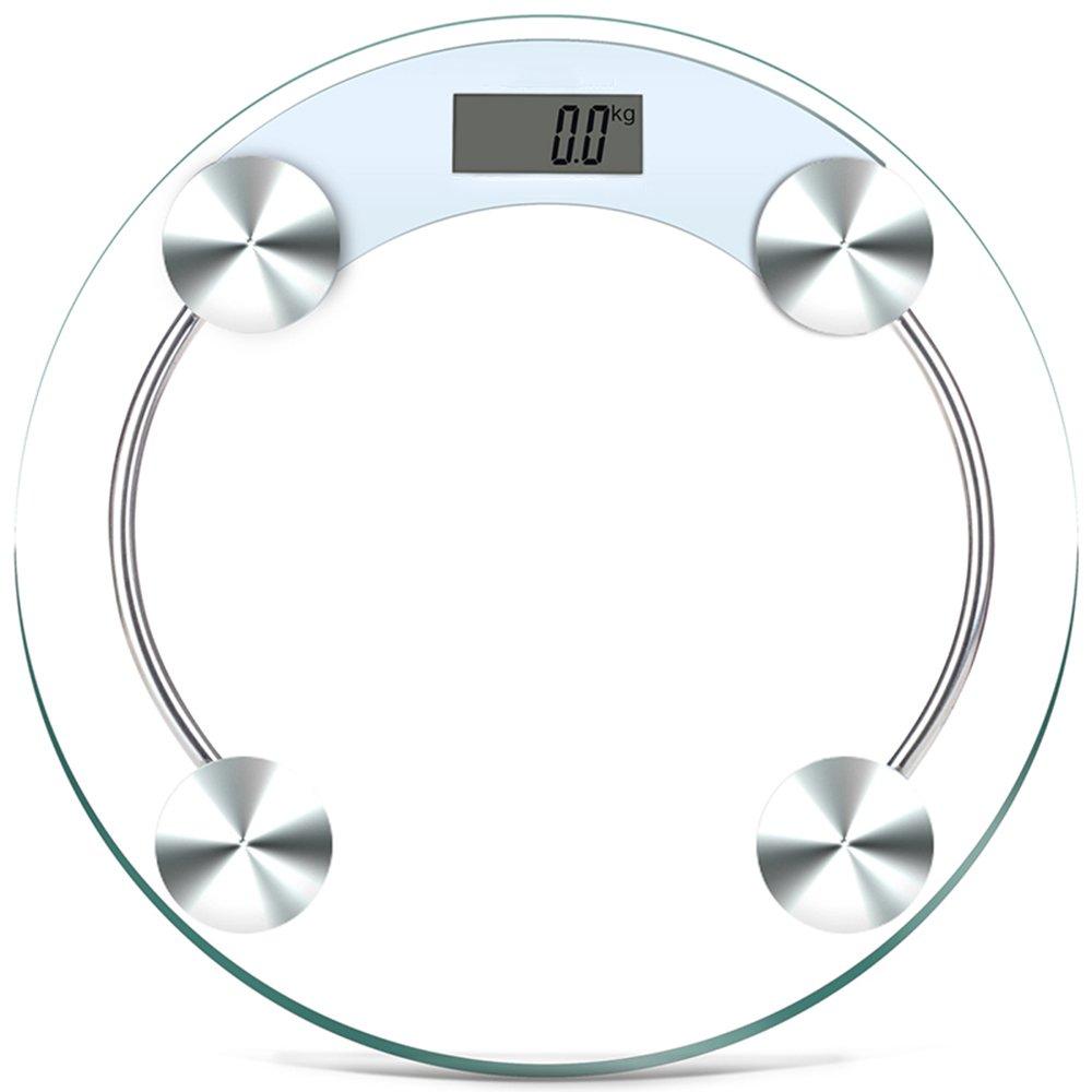 LVZAIXI ラウンド電子ガラスバスルームスケールデジタルLCDディスプレイ体重計180 Kg B07C745GK2