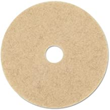 3M 20317 Ultra High-Speed Natural Blend Floor Burnishing Pads 3500, 27-Inch, Natural Tan