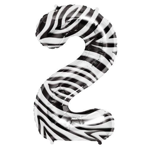 Zebra Mylar Balloon - 5