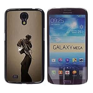 For Samsung Galaxy Mega 6.3 / I9200 / SGH-i527 Case , Brown Deep Sad Depression Emo - Diseño Patrón Teléfono Caso Cubierta Case Bumper Duro Protección Case Cover Funda