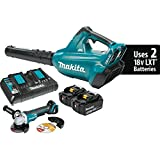 Cheap Makita XBU02PTX1 18V X2 (36V) LXT Lithium-Ion Brushless Cordless Blower Kit (5.0Ah) and Brushless Angle Grinder