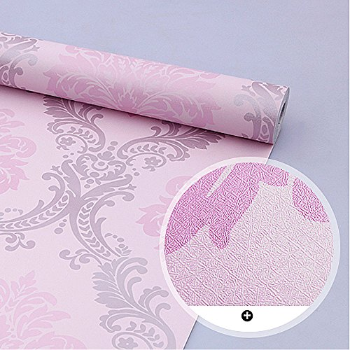 Review SimpleLife4U Vintage Pink Damask Self-Adhesive Shelf Drawer Liner Moisture Proof By SimpleLife4U by SimpleLife4U