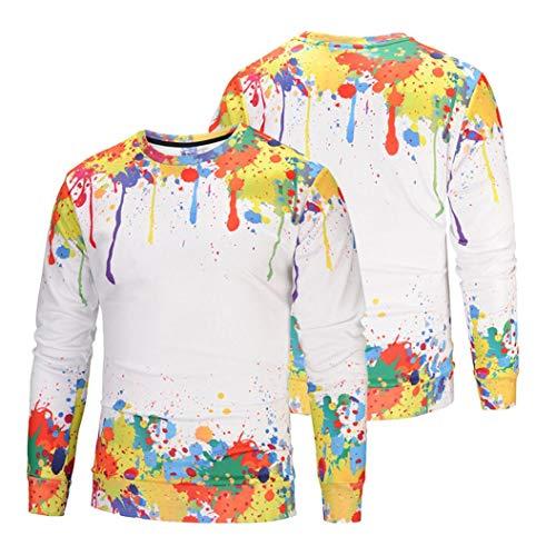 Taille Sweat Grande Col Sweats shirts Vêtements Adeshop Tops Hommes Longues Pull Impression Blouse Chemisier À Automne Multicolore Manches Casual 1 Sportswear Mode Lâche Top Rond xaPRaTvn