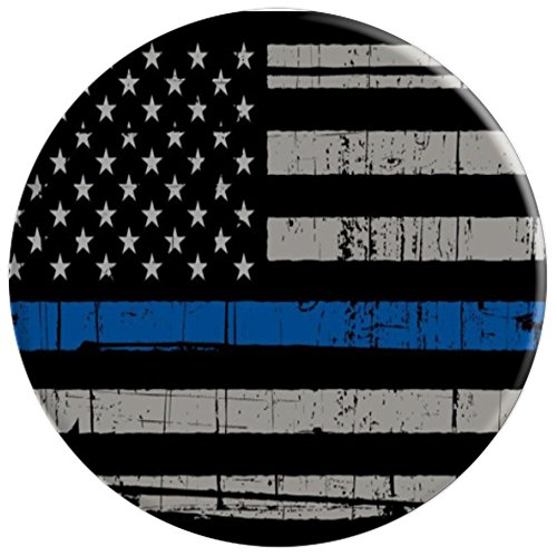 Mobile American Flag Blue Line Police Pride - PopSockets Grip and Stand for Phones and Tablets by 245 Mobile Co. (Image #2)