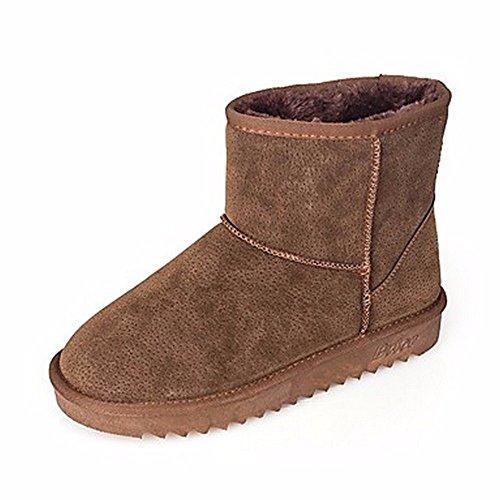 Chaussures Les Femmes Zhudj Pour Tenues Bout Neige Bottes Rond Kaki Noir D'hiver 6Fqxwda