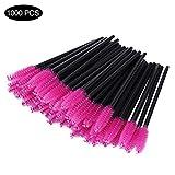 1000 PCS Disposable Eyelash Mascara Brushes Wands Applicator Makeup Brush Tool Kits,Pink