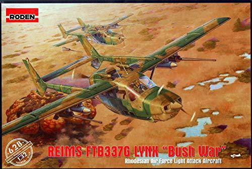 Roden ROD628 1:32 Reims FTB337G Lynx 'Bush War' Rhodesian Air Force Light Attack Aircraft [Model Building ()