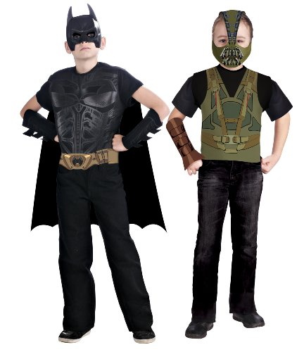 Batman: The Dark Knight Rises: Batman Vs Bane Action Duo Dress Up Set (Black) (Duo Costumes For Friends)