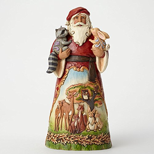 Jim Shore for Enesco Heartwood Creek Santa with Woodland Animals Figurine, 9.75'' by Jim Shore for Enesco