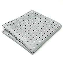 Shlax & Wing Grey Dots Mens Pocket Square Silk Hanky Classic