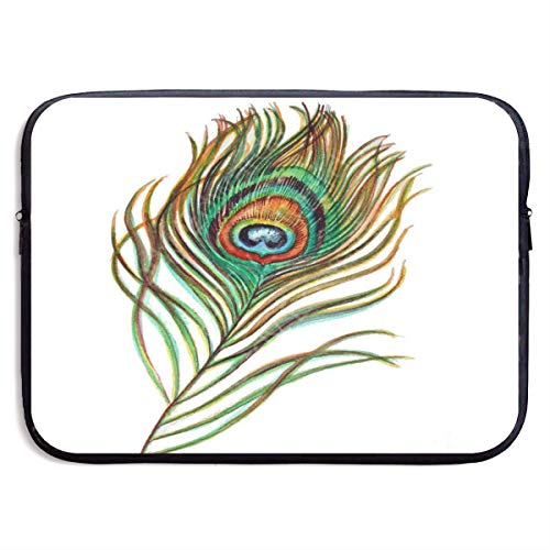 Funny Design Peacock Feather Painting Original Laptop Sleeve Waterproof Neoprene Diving Fabric Protective Briefcase Laptop Bag for IPad, Notebook/Ultrabook/Acer/Asus/Dell