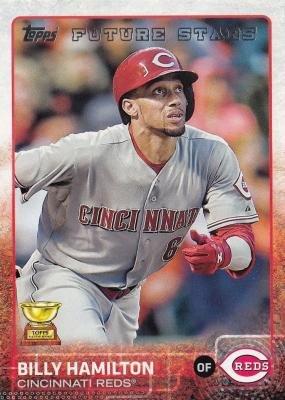 Billy Hamilton baseball card (Cincinnati Reds) 2015 Topps All Star Rookie Cup Future Stars #333 (Hamilton Rookie Card)