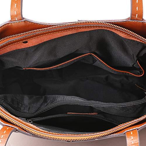 a mano a Design moda Borsa in coccodrillo Donna Xmyl Borsa a mano in pelle vera elegante 30 Nero tracolla Cmnero Borsa 4014 TFlJ3Kc1
