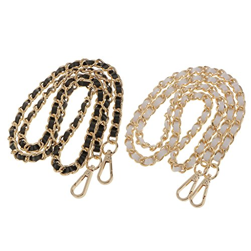 Shoulder 120cm Bag Handle Bag Strap Handbag of Replacement Prettyia Chain DIY for Womens Set 2 qwxFTT46I
