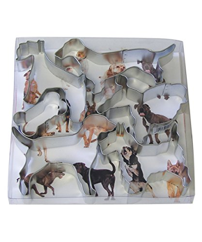 CybrTrayd RM-1901 6 Piece It's a Dog's Life Cookie Cutter Set, Metallic