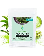 WAKABA Organic Matcha Green Tea Powder [Culinary Premium Quality 30g] | Produced by Matcha Cafe WAKABA (DE-ÖKO-013)| For the traditional Japanese tea ceremony | Ideal for drinking, for cakes, smoothies, iced tea and in milk