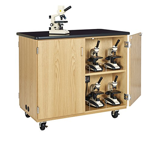 Diversified Woodcrafts 4741k Mobile Microscope Charging Station, Black/Northwoods - Outlet Northwood