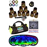Speed Stacks Custom Combo Set - The Works: 12 BLACK FLAME 4 Cups, Cup Keeper, Quick Release Stem, Pro Timer, Gen 3 Premium VOXEL GLOW Mat, 6 Snap Tops, Gear Bag + FREE: Active Energy Necklace $49