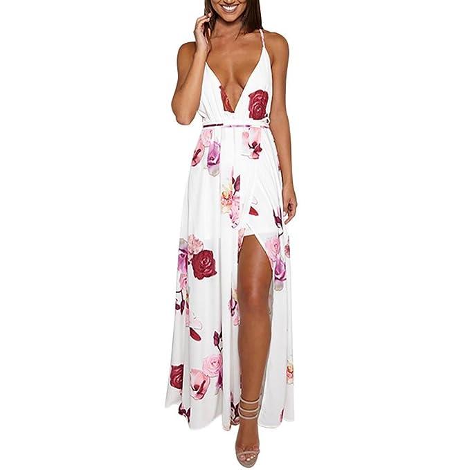 Vestido de mujer, ♡Xinantime♡ Mujer Summer Sundress Vestido largo de fiesta floral
