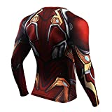 GYM GALA Iron Man Shirt Casual and Sports Long