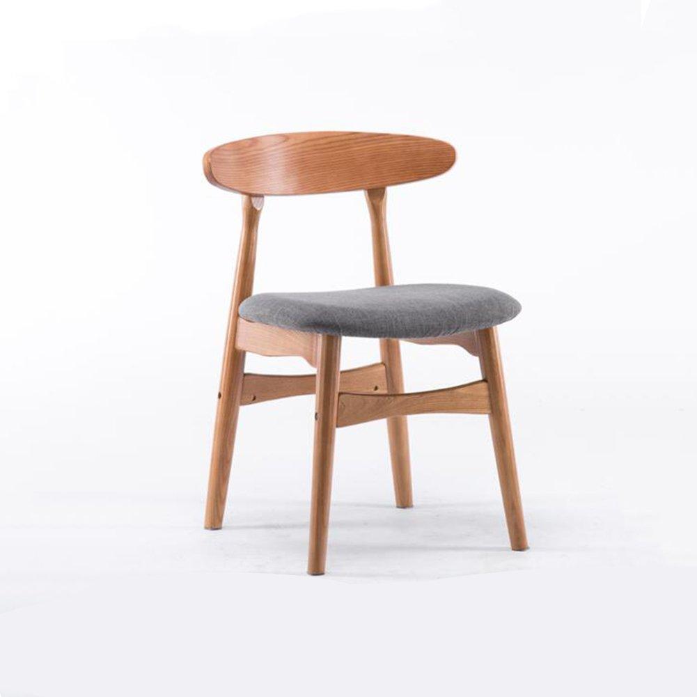 DALL ダイニングチェア JY 037無垢材チェアフレーム コットンリネン 組み立てることができます リムーバブル ウォッシュ 背もたれレジャー木製椅子 (色 : 4) B07DD811B4 4 4