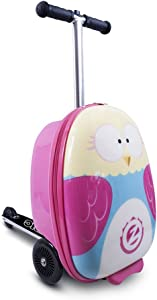 """ZincFlyte Kid's Luggage Scooter 18"""" - Olivia The Owl"""