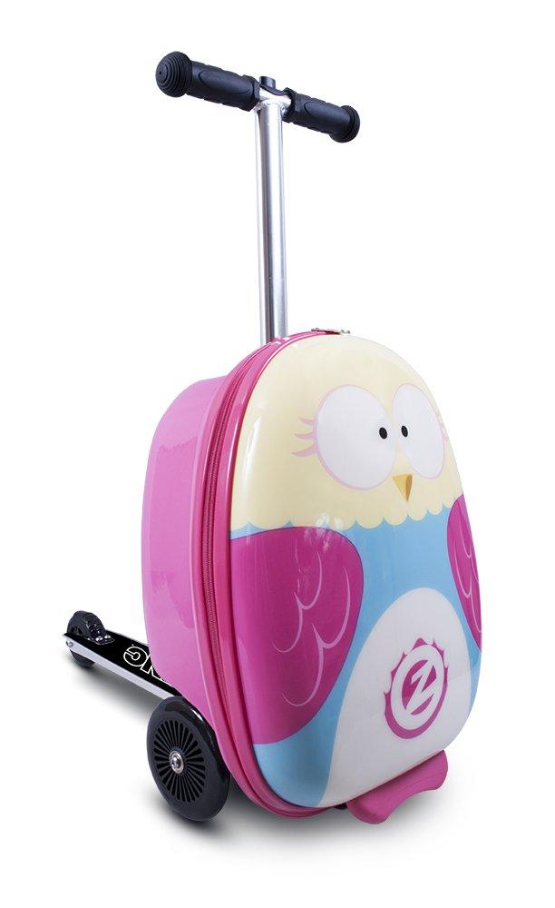 ZincFlyte Flyte ZC03909 Kid's Luggage Scooter 18'' - Olivia The Owl, one Size, Pink
