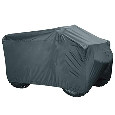 "PrimeShield ATV Cover - Heavy Duty Waterproof Windproof Large Quad ATC 4 Wheeler Cover, All-Season Outdoor UV Protection for Kawasaki Yamaha Suzuki Honda Polaris ATV, 94 x 48 x 48"", Black: Automotive"