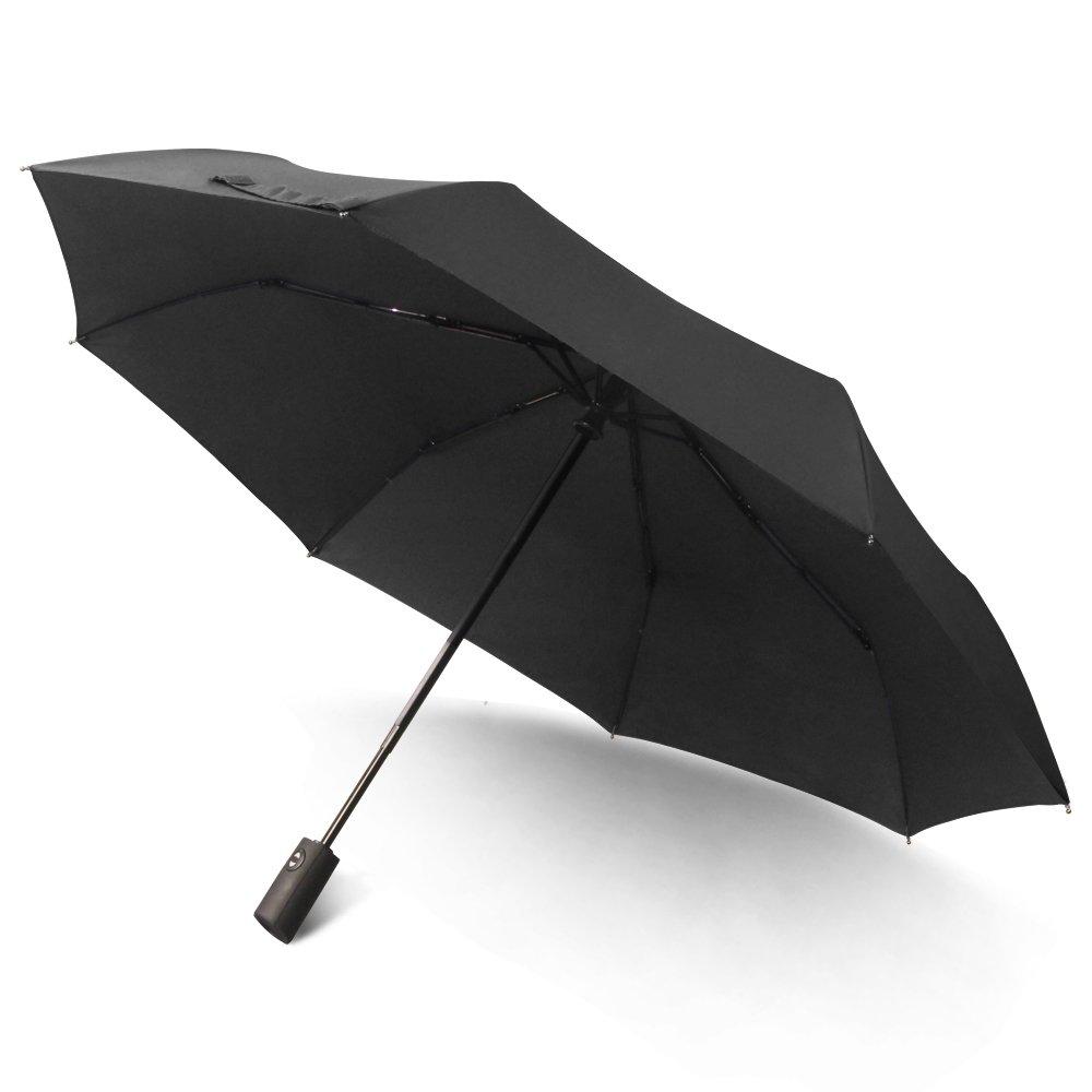 Saiveina Travel Umbrella, Compact Auto Open Close Windproof Rain Umbrella with Teflon Coating
