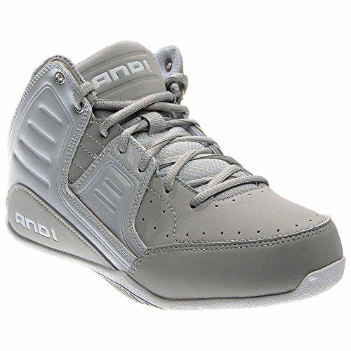 AND1 Men's Rocket 4.0 Mid Sneaker,Glacier Grey/Glacier Grey/Bright White,US 8.5