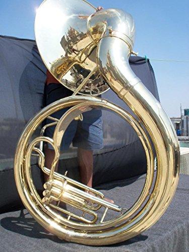Jumbo 24-inch Bell Zweiss Superbrass BBb Sousaphone. Natural Unlacquered Brass. by Zweiss