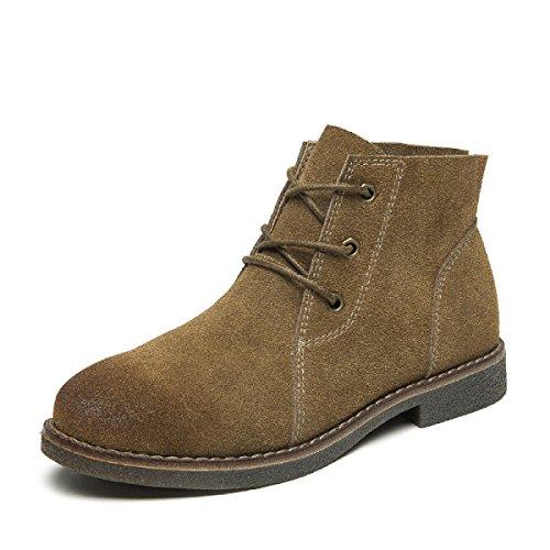 Retro Chelsea Herbst Stiefeletten Schnür Winter 35 Große Schuhe Modische Leder Flache Freizeit 40 Größe FEUBxB8