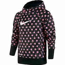 Nike KO 3.0 Oth Aop Hoodie Girl athletic Dot Pullover (M 10-12)