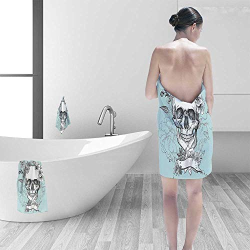 Ultra Soft Towel and Flowers Day of The Dead Mexican Traditional Celebration Symbolic Art ES Turquoise Resort,Hotels/Motels,Gym use by Printsonne