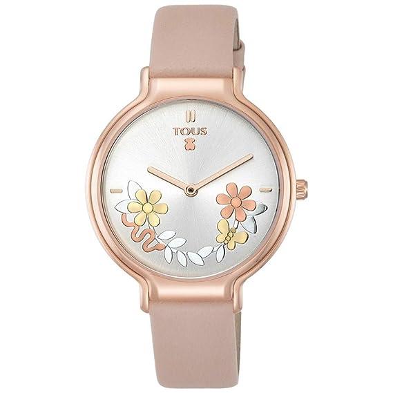 Reloj Tous Real Mix de acero IP rosado con correa de piel nude Ref ...